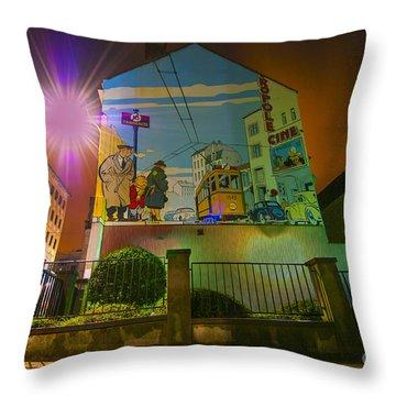Young Albert Throw Pillow by Juli Scalzi