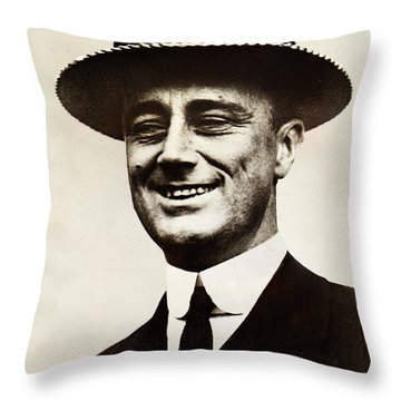 Young Franklin  Roosevelt Throw Pillow by Bill Cannon