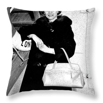 Young Lady On First Cruise Throw Pillow by Allan  Hughes