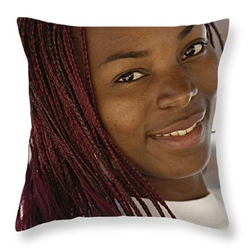 Young Woman Costa Rica Throw Pillow by Bob Christopher