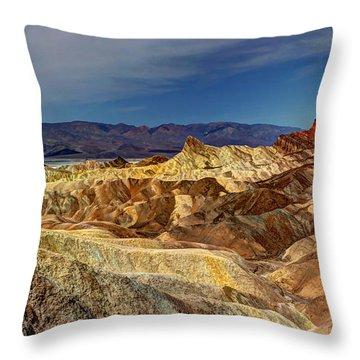 Zabriskie Point Throw Pillow by Heidi Smith
