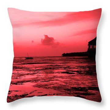 Zanzibar Sunrise Throw Pillow by Aidan Moran