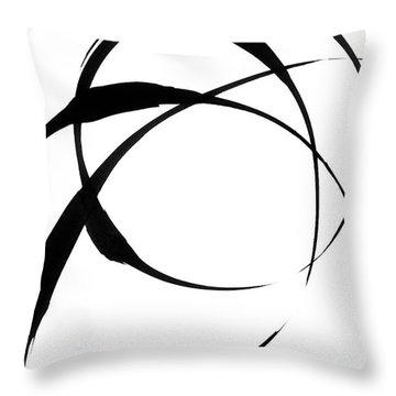 Zen Circles 4 Throw Pillow by Hakon Soreide