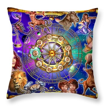 Zodiac 2 Throw Pillow by Ciro Marchetti