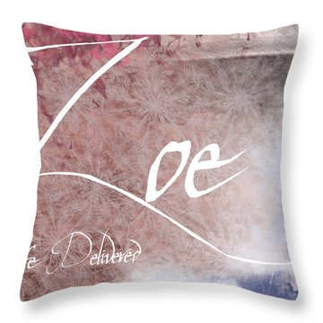 Zoe - Life Delivered Throw Pillow by Christopher Gaston