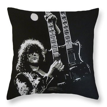 Zoso Throw Pillow by ID Goodall