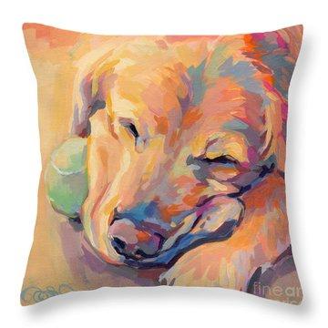 Zzzzzz Throw Pillow by Kimberly Santini