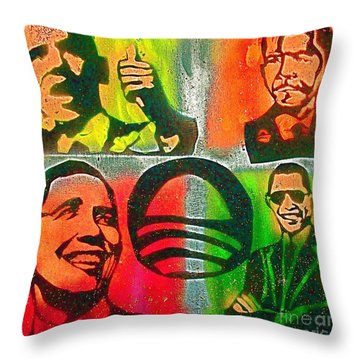 4 Barack  Throw Pillow by Tony B Conscious