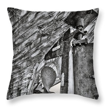 Boat Propeller Throw Pillow by Stelios Kleanthous
