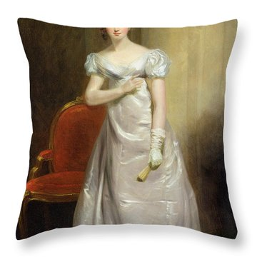 Harriet Smithson As Miss Dorillon Throw Pillow by George Clint