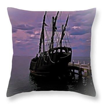 Notorious The Pirate Ship 5 Throw Pillow by Blair Stuart