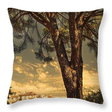 Pine Tree In The Secret Garden Throw Pillow by Jenny Rainbow