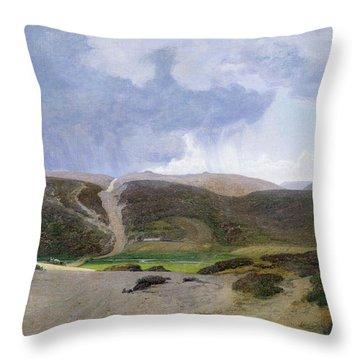 Scandinavian Landscape  Throw Pillow by Janus la Cour