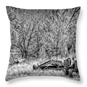 Tractor Days Throw Pillow by Michelle Frizzell-Thompson
