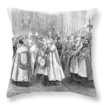 1st Vatican Council, 1869 Throw Pillow by Granger