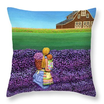 A Moment Throw Pillow by Anne Klar