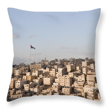 A View Of Amman, Jordan Throw Pillow by Taylor S. Kennedy
