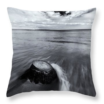Against The Tides Throw Pillow by Mike  Dawson