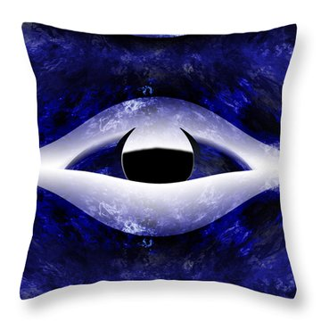 All Seeing Eye Throw Pillow by Christopher Gaston