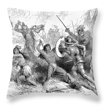 Alonso De Ojeda (1465?-1515) Throw Pillow by Granger