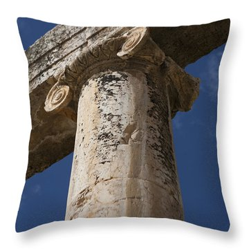 An Close View Of The Oval Plaza Throw Pillow by Taylor S. Kennedy