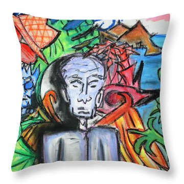 Angel In Disguise Throw Pillow by Jera Sky