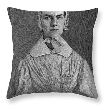 Angelina Emily Grimke Throw Pillow by Granger