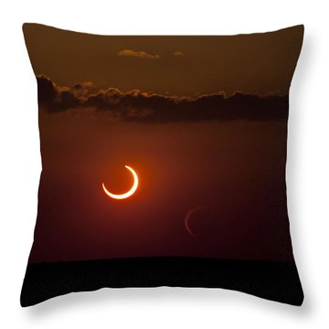 Annular Solar Eclipse Throw Pillow by Phillip Jones