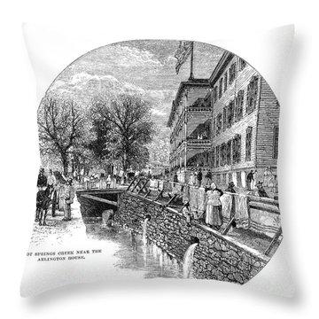 Arkansas: Hot Springs Throw Pillow by Granger