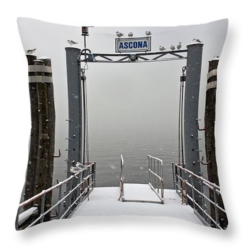 Ascona With Snow Throw Pillow by Joana Kruse