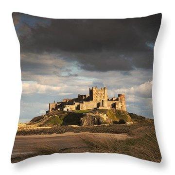 Bamburgh, Northumberland, England Throw Pillow by John Short