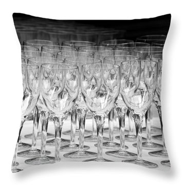 Banquet Glasses Throw Pillow by Svetlana Sewell
