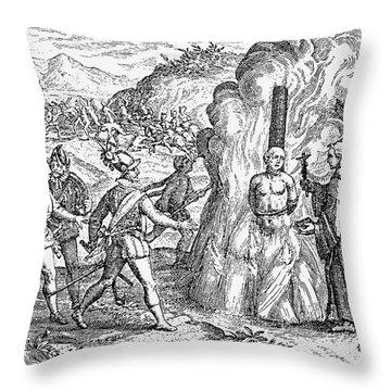 Bartolome De Las Casas Throw Pillow by Granger