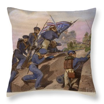Battle Of Churubusco, 1847 Throw Pillow by Granger