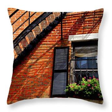 Boston House Fragment Throw Pillow by Elena Elisseeva