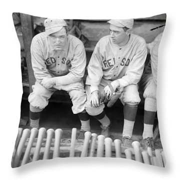 Boston Red Sox, 1916 Throw Pillow by Granger