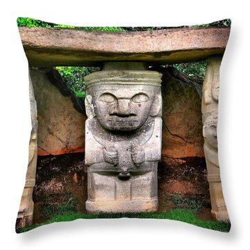 Boys Club Throw Pillow by Skip Hunt