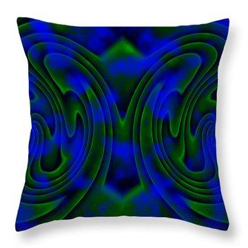 Butterfly Throw Pillow by Christopher Gaston