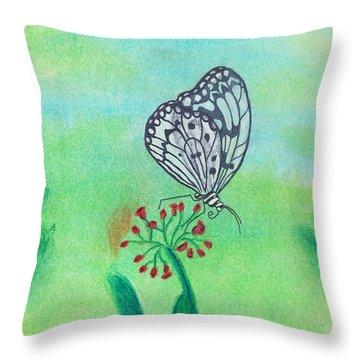 Butterfly Throw Pillow by Susan Schmitz