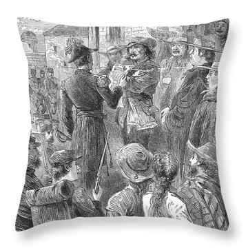 Capture Of Santa Fe, 1846 Throw Pillow by Granger