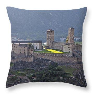 Castel Grande - Bellinzona Throw Pillow by Joana Kruse