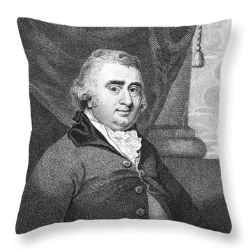 Charles Fox (1749-1806) Throw Pillow by Granger