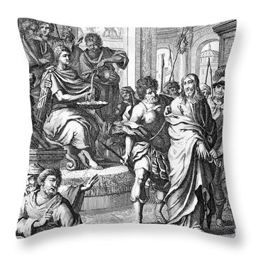 Christ Before Pilate Throw Pillow by Granger