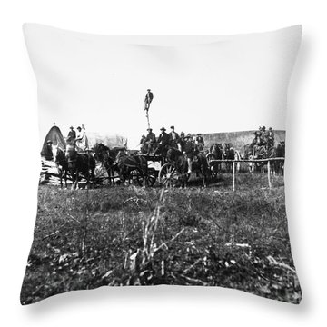 Civil War: Telegraph, 1864 Throw Pillow by Granger