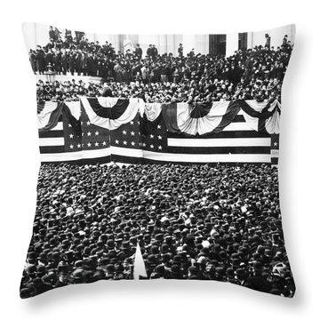 Clevelands Inauguration Throw Pillow by Granger