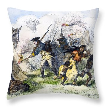 Destroying Villages, 1791 Throw Pillow by Granger
