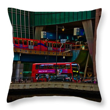 Docklands London Throw Pillow by Dawn OConnor
