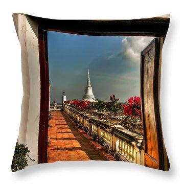 Door To Enlightenment Throw Pillow by Adrian Evans