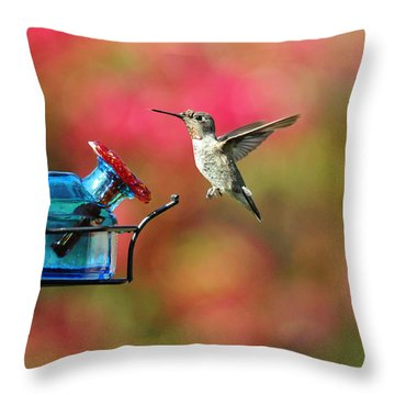 Dropping In Throw Pillow by Lynn Bauer