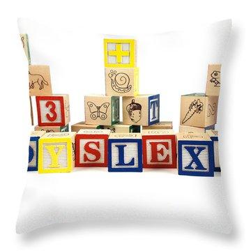 Dyslexia Throw Pillow by Photo Researchers, Inc.
